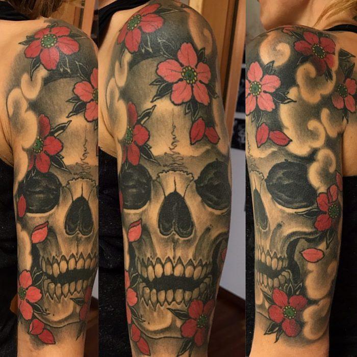 Skull and Sakura